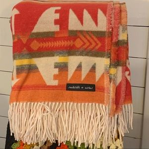 Sackcloth + Ashes Aztec Print Wool Blanket